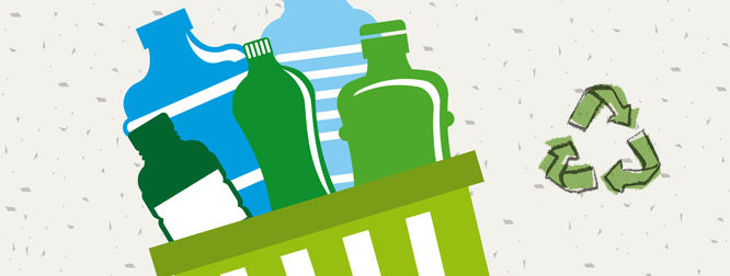 Рециклирани пластмасови бутилки